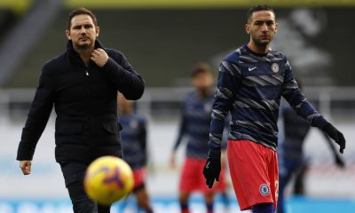 Frank Lampard and Hakim Ziyech during their time together at Chelsea. (imago Images)