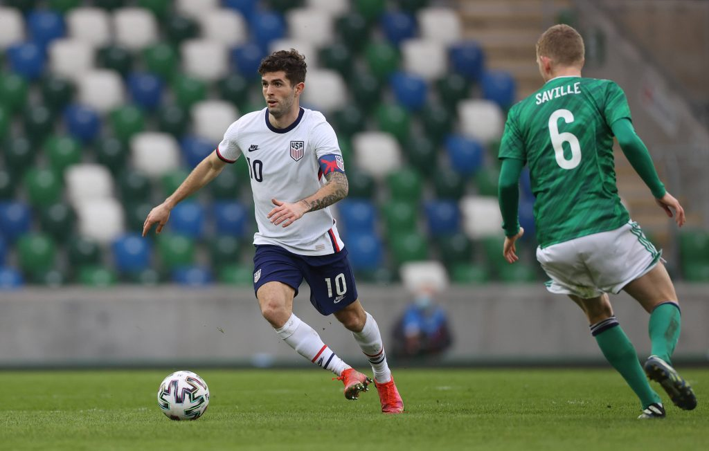 Christian Pulisic played the full 90 minutes against Norther Ireland for USA and scored in a 1-2 win. (imago Images)