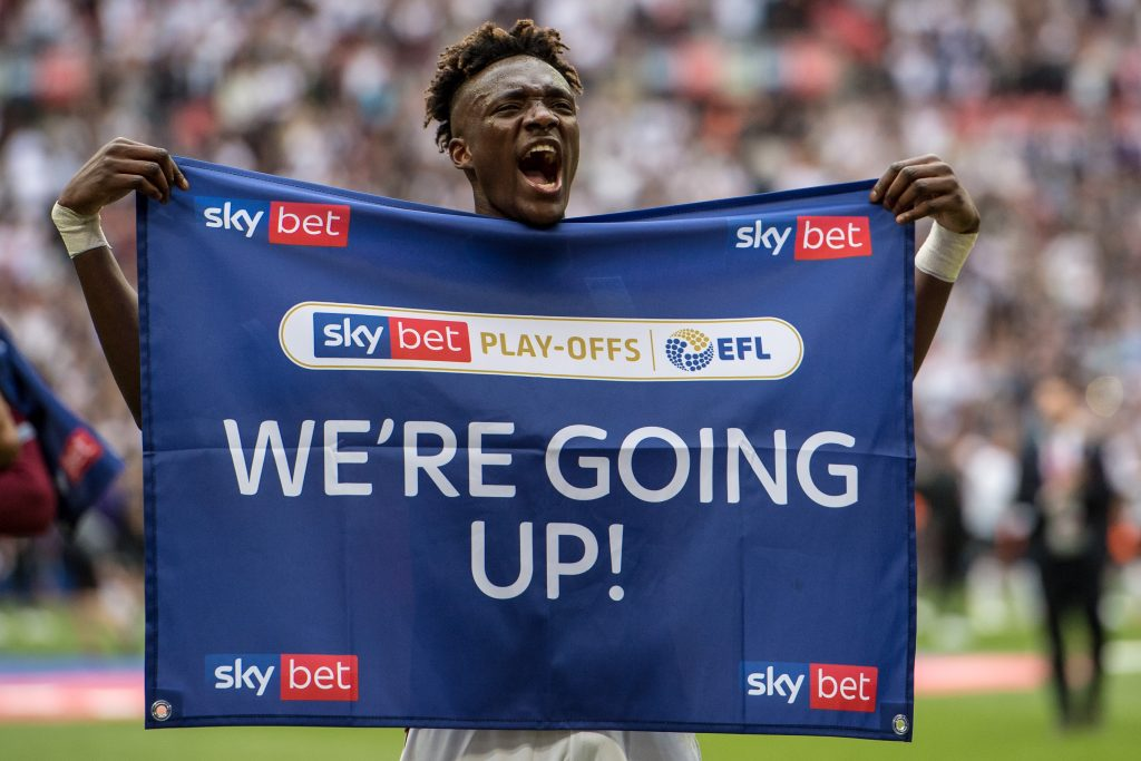 Tammy Abraham played a key role in Villa's promotion (Getty Images)