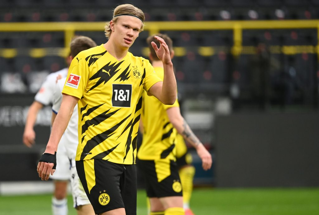 Erling Haaland of Borussia Dortmund is linked with several big clubs, including Chelsea.
