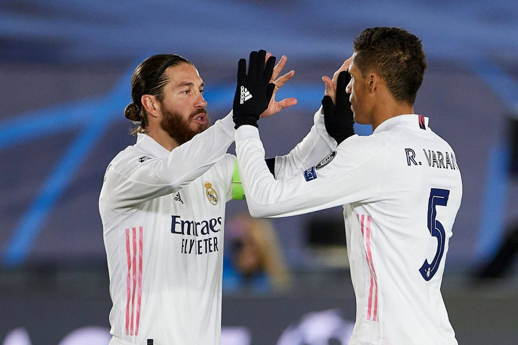 Sergio Ramos (L) is expected to be back from injury for the second leg of Real Madrid vs Chelsea in the UEFA Champions League semi-finals.
