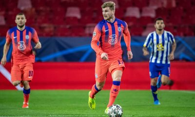 Timo Werner of Chelsea FC during the UEFA Champions League Quarter Final First Leg game between FC Porto and Chelsea FC. (imago Images)