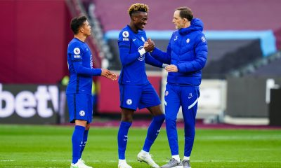 Tuchel has constantly overlooked Tammy Abraham (Mandatory Credit: Photo by Javier Garcia/BPI/Shutterstock 11872316cm Manager Thomas Tuchel of Chelsea with Tammy Abraham and Thiago Silva West Ham United v Chelsea, Premier League, Football, The London Stadium, London, UK - 24 Apr 2021 EDITORIAL USE ONLY No use with unauthorised audio, video, data, fixture lists, club/league logos or live services. Online in-match use limited to 120 images, no video emulation. No use in betting, games or single club/league/player publications. West Ham United v Chelsea, Premier League, Football, The London Stadium, London, UK - 24 Apr 2021 EDITORIAL USE ONLY No use with unauthorised audio, video, data, fixture lists, club/league logos or live services. Online in-match use limited to 120 images, no video emulation. No use in betting, games or single club/league/player publications. PUBLICATIONxINxGERxSUIxAUTXHUNxGRExMLTxCYPxROMxBULxUAExKSAxONLY Copyright: xJavierxGarcia/BPI/Shutterstockx 11872316cm