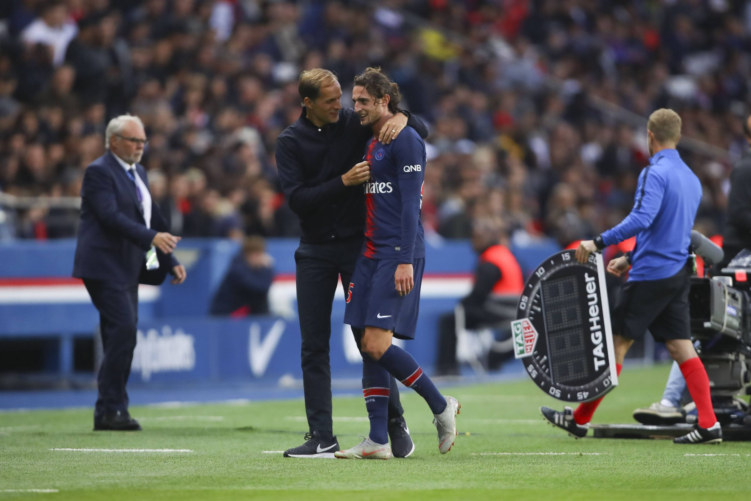 Thomas Tuchel and Adrien Rabiot could reunite at Chelsea. (imago Images)