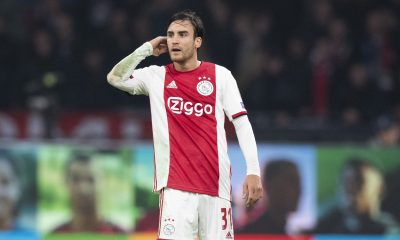 Ajax left-back, Nicolas Tagliafico, is a transfer target for Chelsea, Manchester City, and Leeds United. (imago Images)