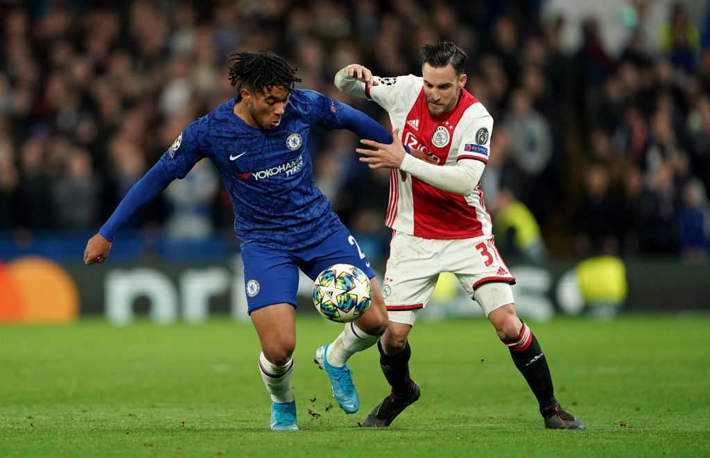 Nicolas Tagliafico in action for Ajax against Chelsea. (imago Images)