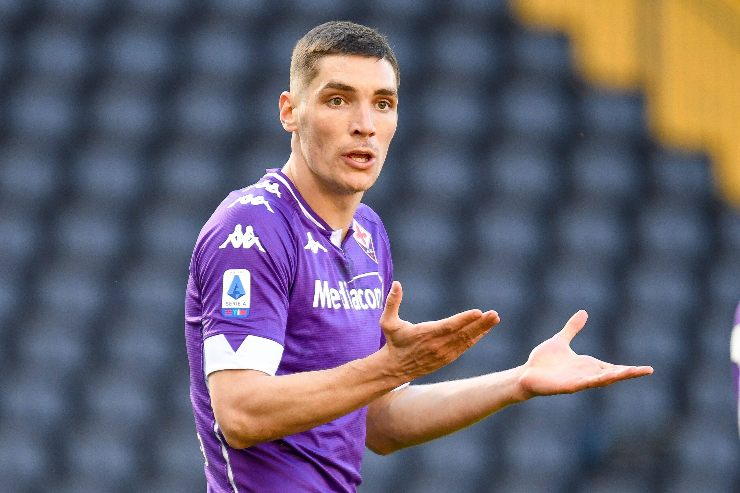 Nikola Milenkovic of Fiorentina is a transfer target for Liverpool, Manchester United, and Chelsea.