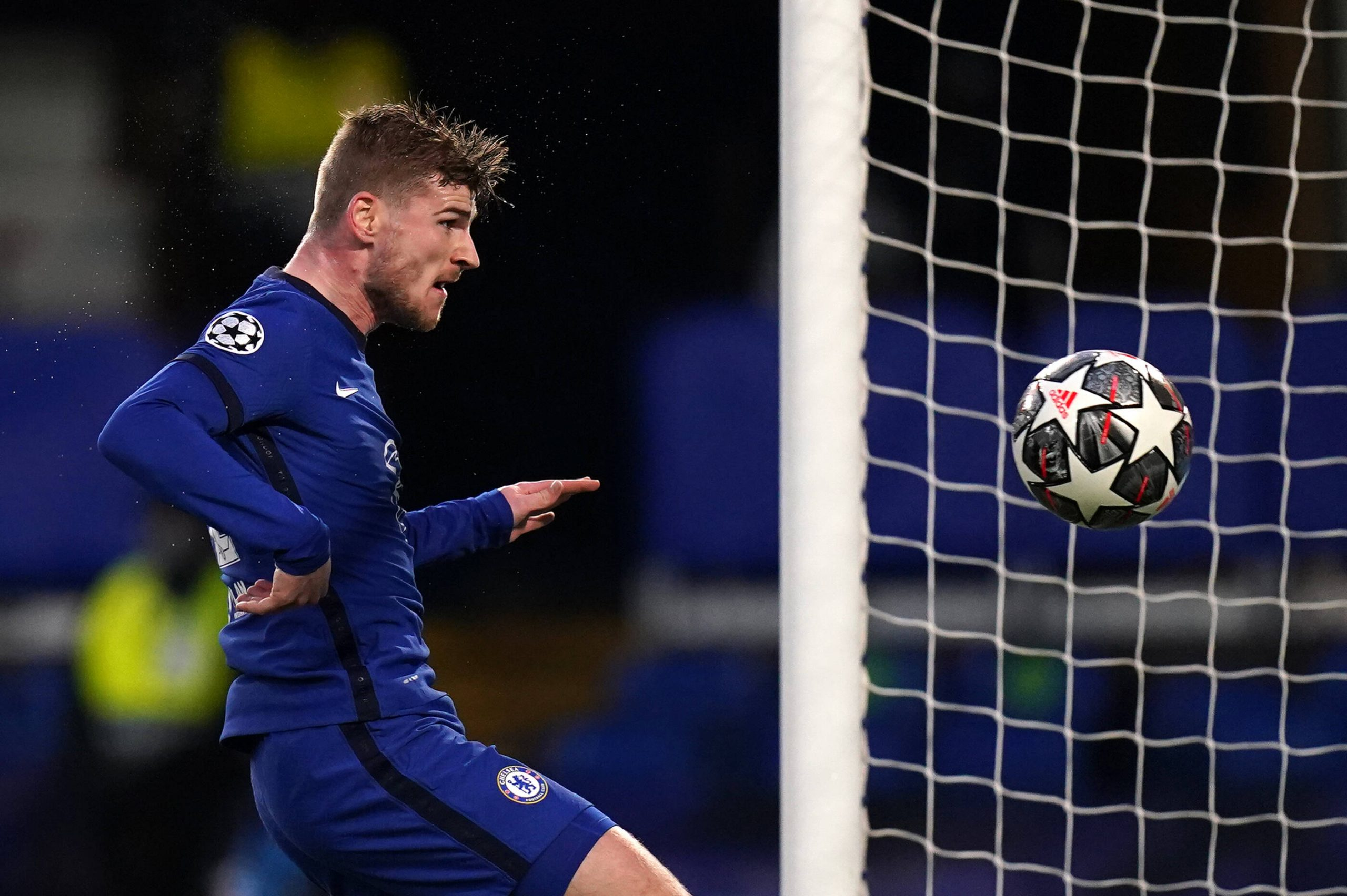 Timo Werner for Chelsea vs Real Madrid in the UEFA Champions League.