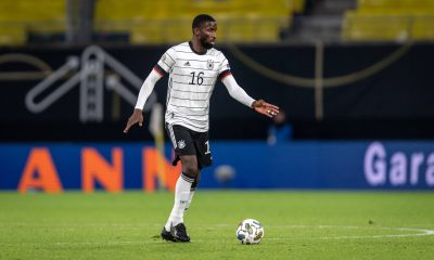 Antonio Rudiger in action for Germany.