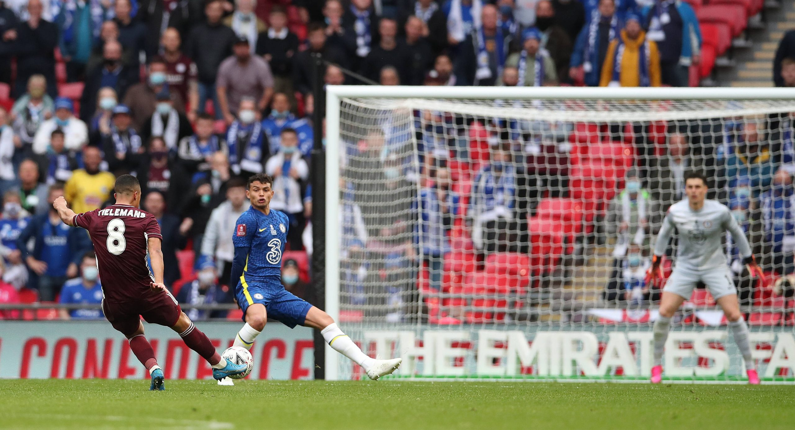 Youri Tielemans scored a screamer against Chelsea in the FA Cup final.