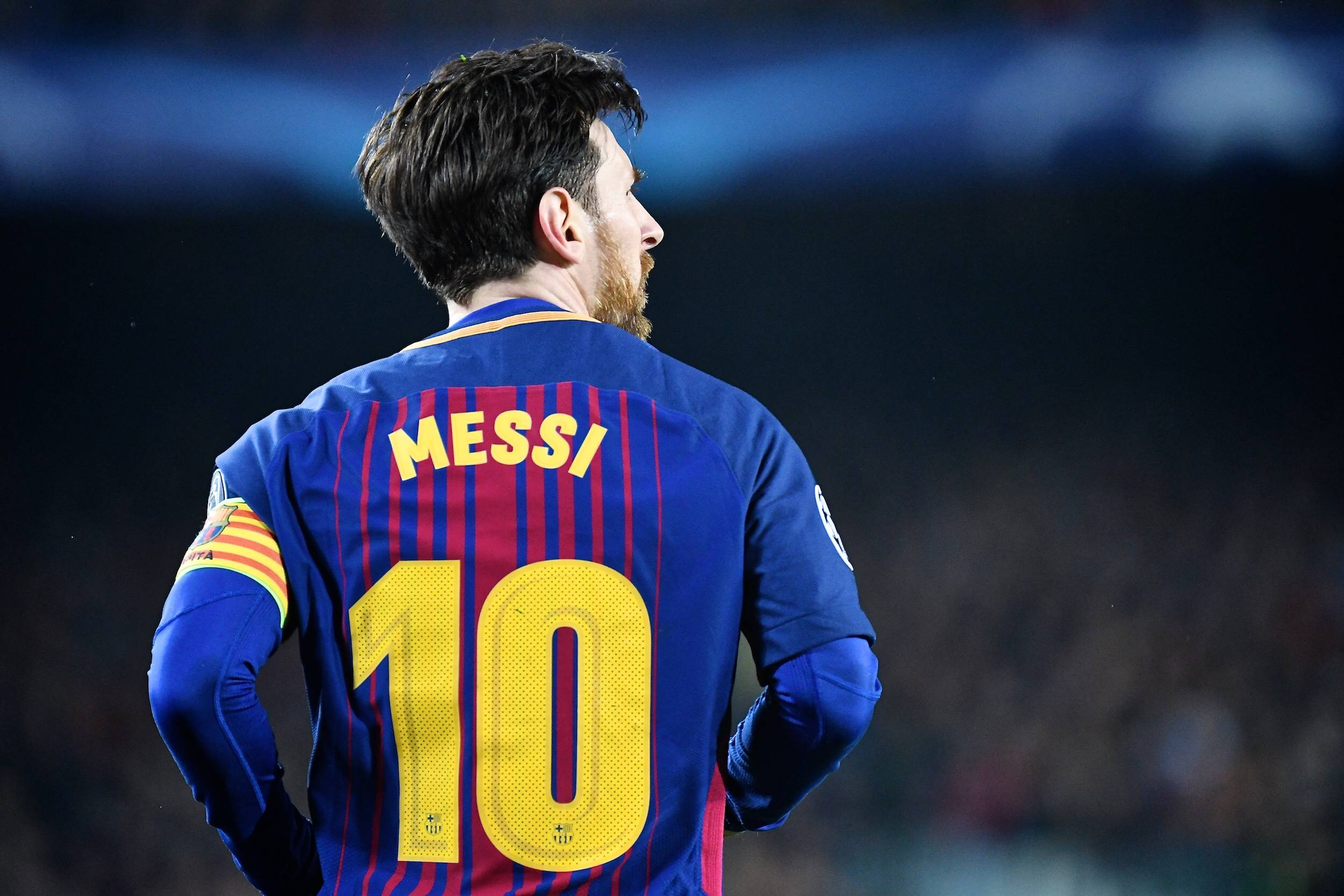 Lionel Messi in action for Barcelona against Chelsea.