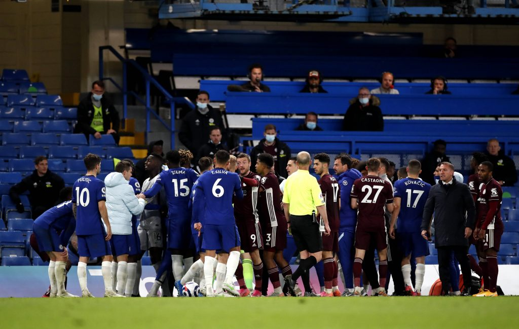 Chelsea face points deduction for their role in the Stamford Bridge clash with Leicester City players.