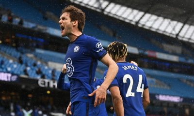 Marcos Alonso scored the late winner for Chelsea against Manchester City