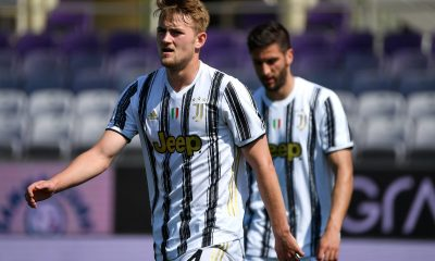 Matthijs de Ligt of Juventus FC looks on during the Serie A football match between ACF Fiorentina and Juventus FC.