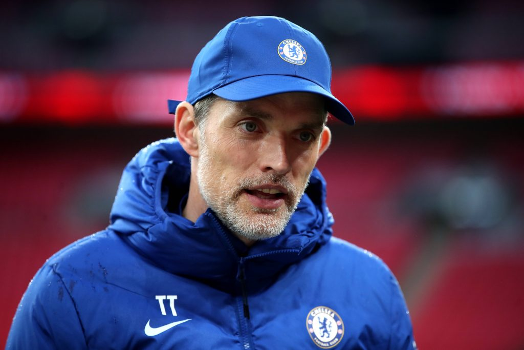 Thomas Tuchel speaking in an interview as Chelsea manager.