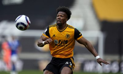 Adama Traore during the Premier League match at Molineux