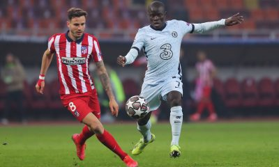 Chelsea midfielder N'Golo Kante'transfer news Atletico Madrid superstar, Saul Niguez in the UEFA Champions League.