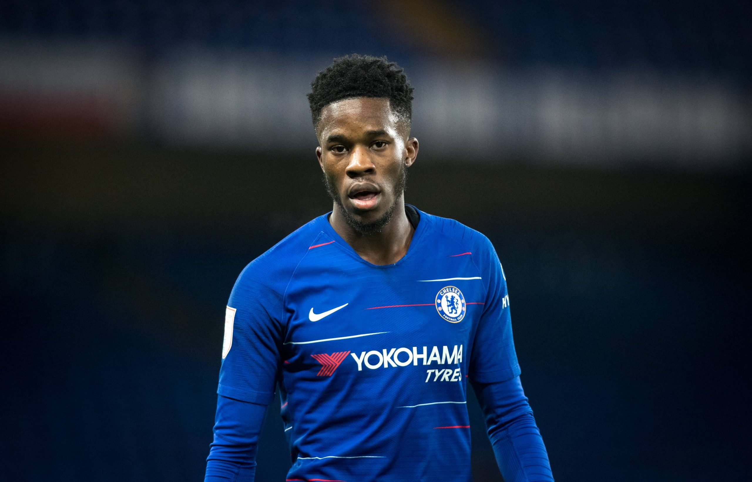 Ike Ugbo of Chelsea in action for the youth side.