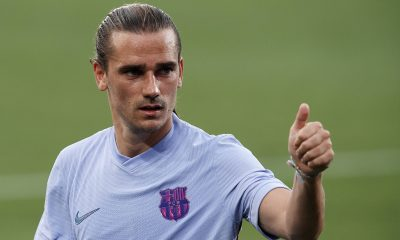 Antoine Griezmann with Barcelona during the pre-season this summer.