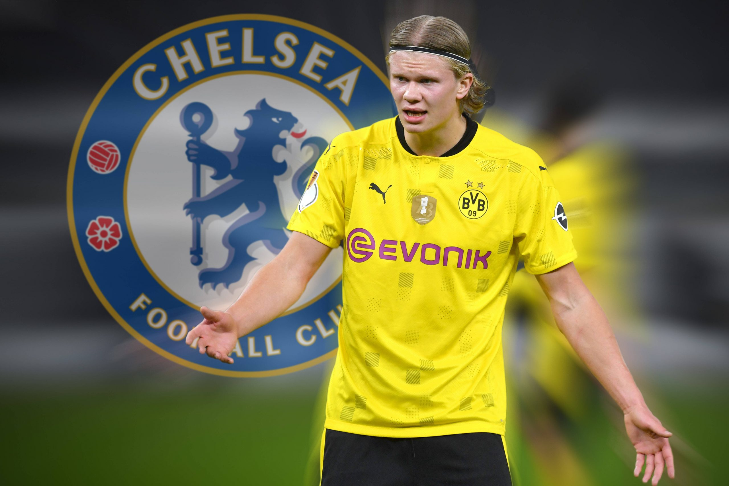 Erling Haaland is linked with a move to Chelsea.