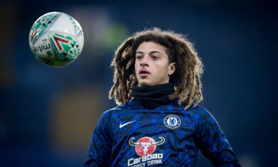 Ethan Ampadu in action for Chelsea.