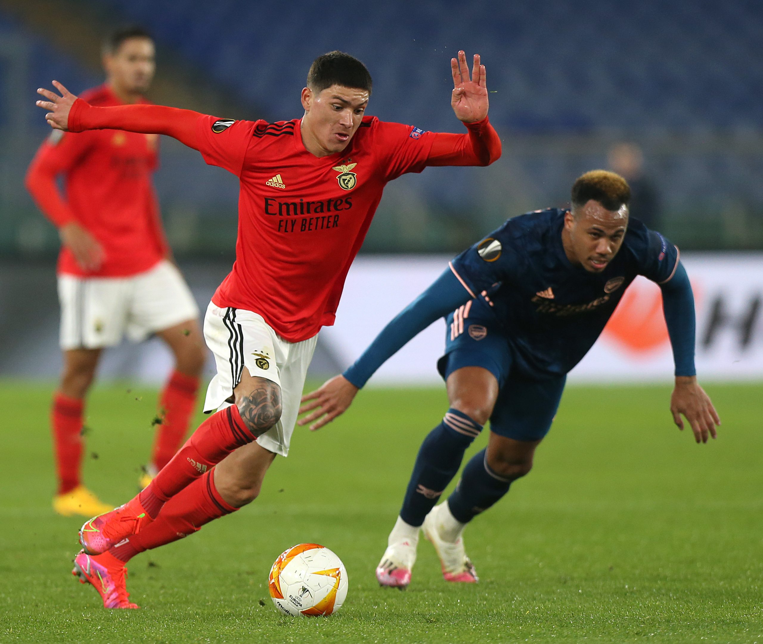 Darwin Nunez in action against Arsenal. (Photo by Paolo Bruno/Getty Images)